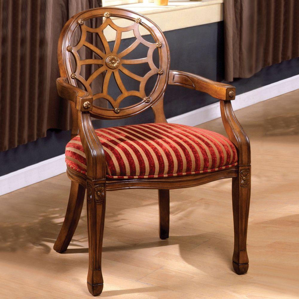 Home Decorators Collection Edinburgh Antique Oak Arm Chair CM AC6118   The  Home Depot