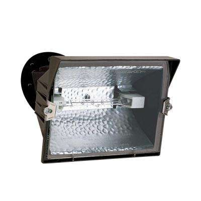 Outdoor Bronze 300-Watt Quartz Halogen Flood Light