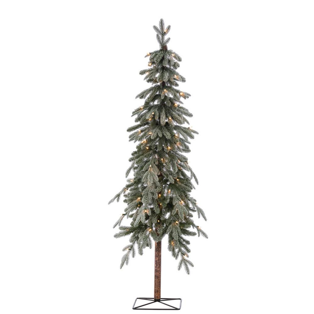 Flocked Pre Lit Christmas Tree.Sterling 6 Ft Pre Lit Flocked Natural Cut Alpine Artificial Christmas Tree With 100 Clear Lights