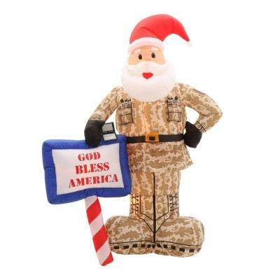 7 ft. Inflatable Military Santa
