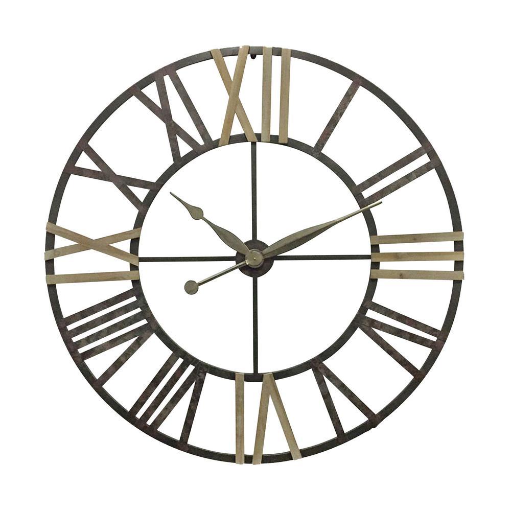 Sagebrook Home Roman Numeral Metal Wall Clock 13120 The