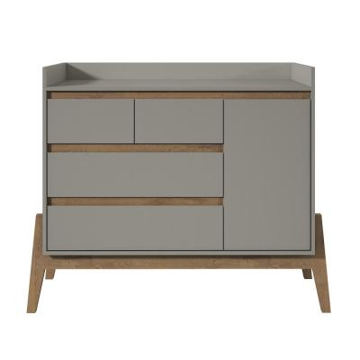 Essence 49 in. Wide 4-Drawer Grey Dresser