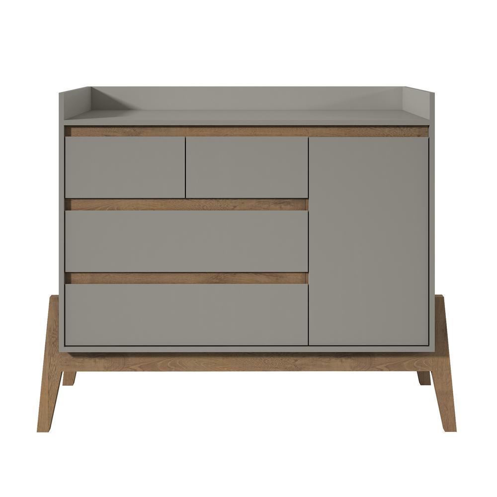 Wide 4 Drawer Grey Dresser