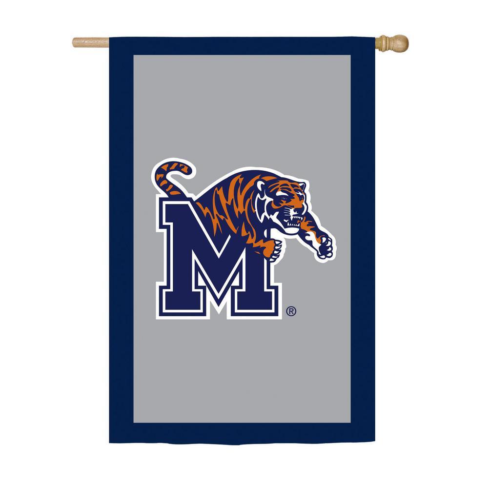 2.4 ft. x 3.6 ft. University of Memphis Applique House Flag