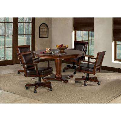 Ambassador 5-Piece Game Set in Medium Brown Cherry