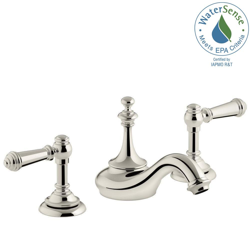 KOHLER Artifacts In Widespread Handle Tea Design Bathroom - 8 widespread bathroom sink faucets for bathroom decor ideas