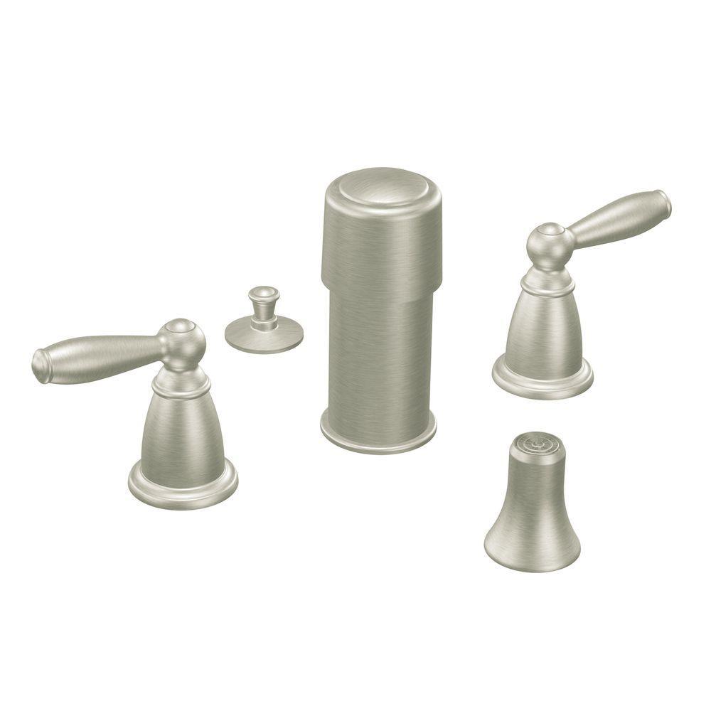 Brantford 2-Handle Bidet Faucet in Brushed Nickel (Valve Sold Separately)