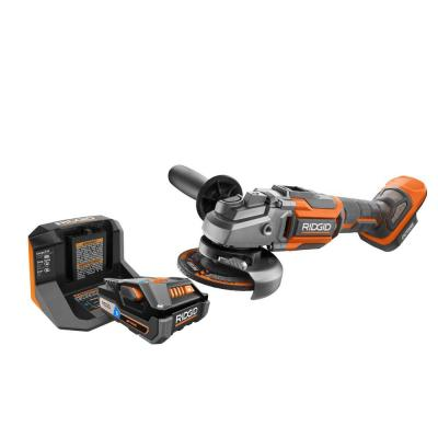 18-Volt OCTANE Cordless Brushless 4-1/2 in. Angle Grinder Kit with (1) OCTANE Bluetooth 3.0 Ah Battery and Charger