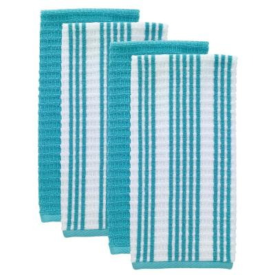 T-fal Breeze Solid and Stripe Cotton Waffle Terry Kitchen Towel (Set of 4)