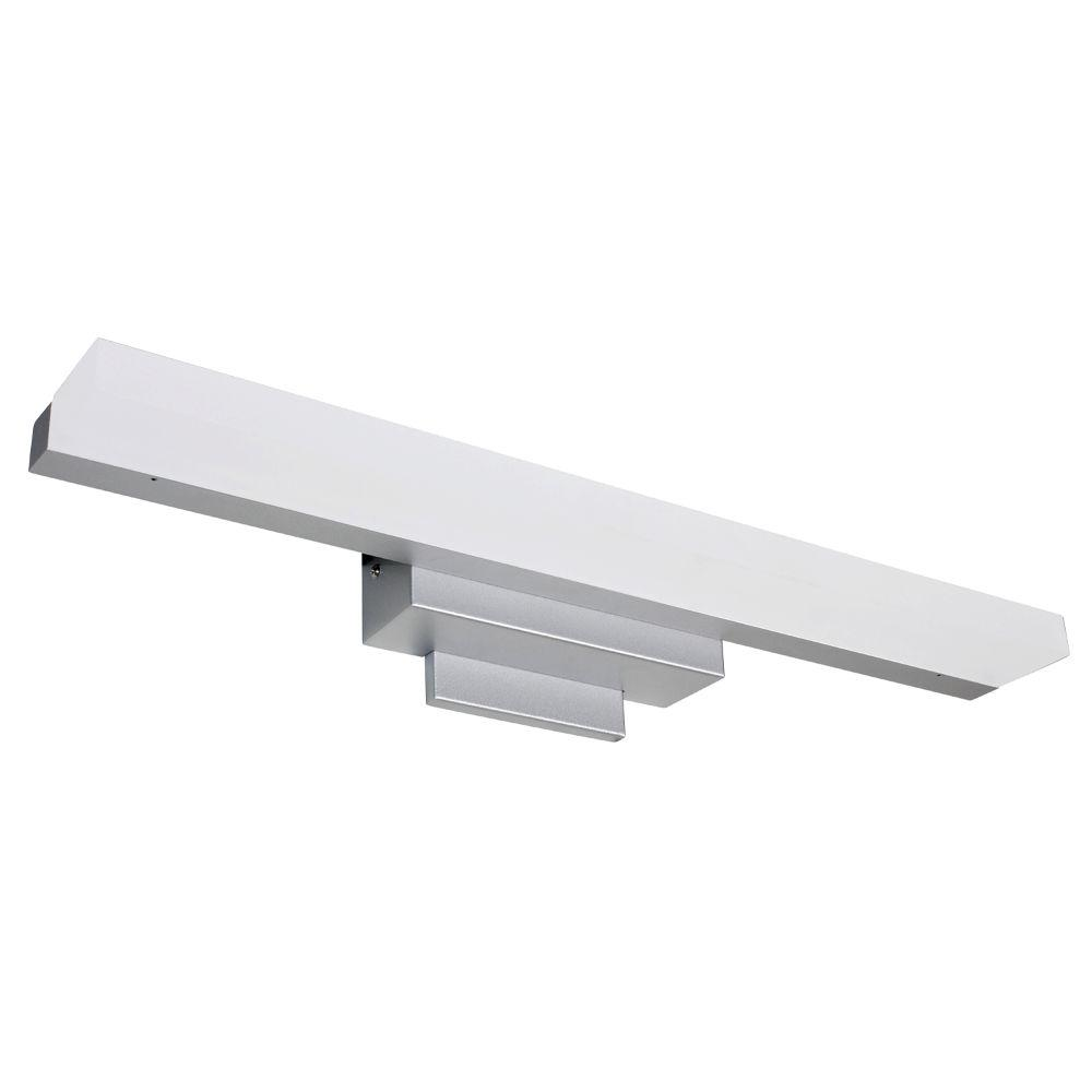 led bathroom vanity lighting vonn lighting procyon collection 23 in silver nickel low 19173