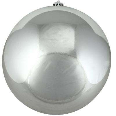 Shiny Silver Splendor Commercial Shatterproof Christmas Ball Ornament