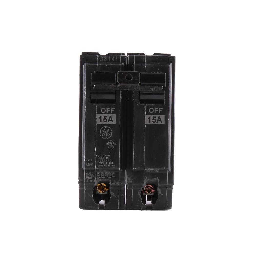 Q-Line 15 Amp 2 in. Double-Pole Circuit Breaker