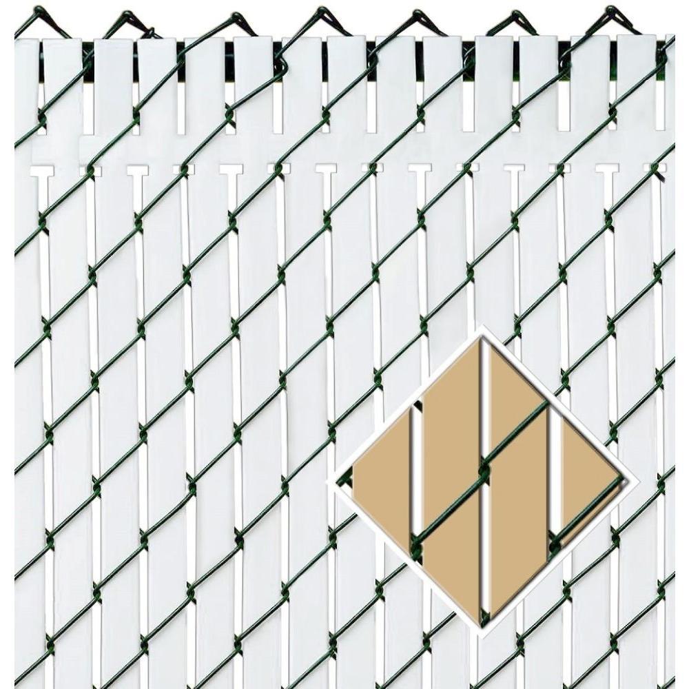 Pexco 6 ft  x 10 ft  Beige Privacy Fence Slat-PVTBX-BGE6