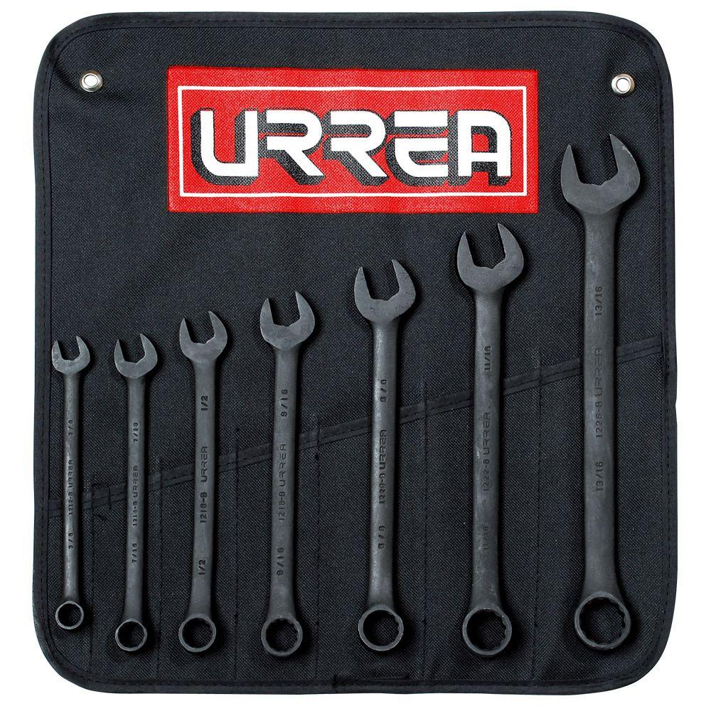 12-Point Combination Black Finish Wrench Set (7-Piece)