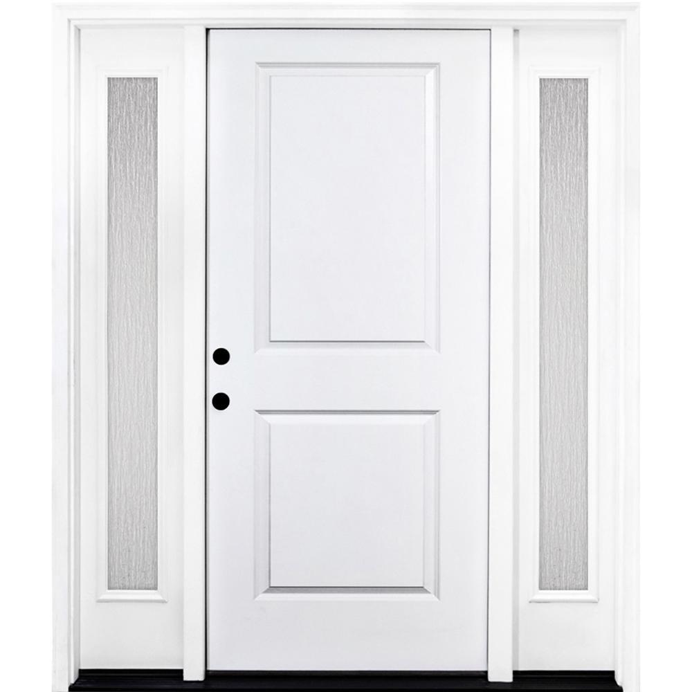 2 Panel Wood 68 X 80 Front Doors Exterior Doors The Home Depot