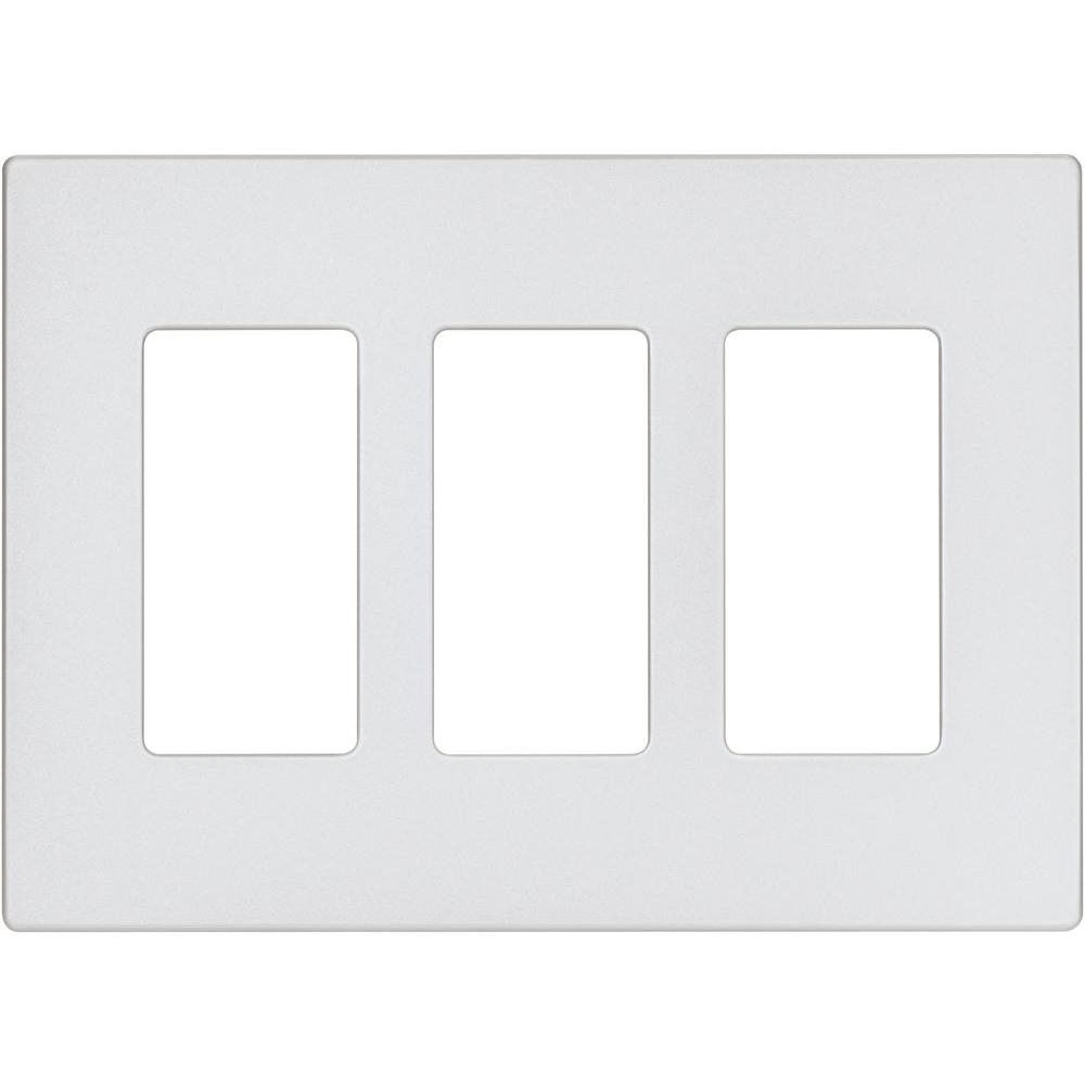 COOPER Wiring Aspire Screwless Wall Plate, 3 Gang 6-7/8 In L X 4-7/8 In W 1/4 In T, Silver Granite 9523SG
