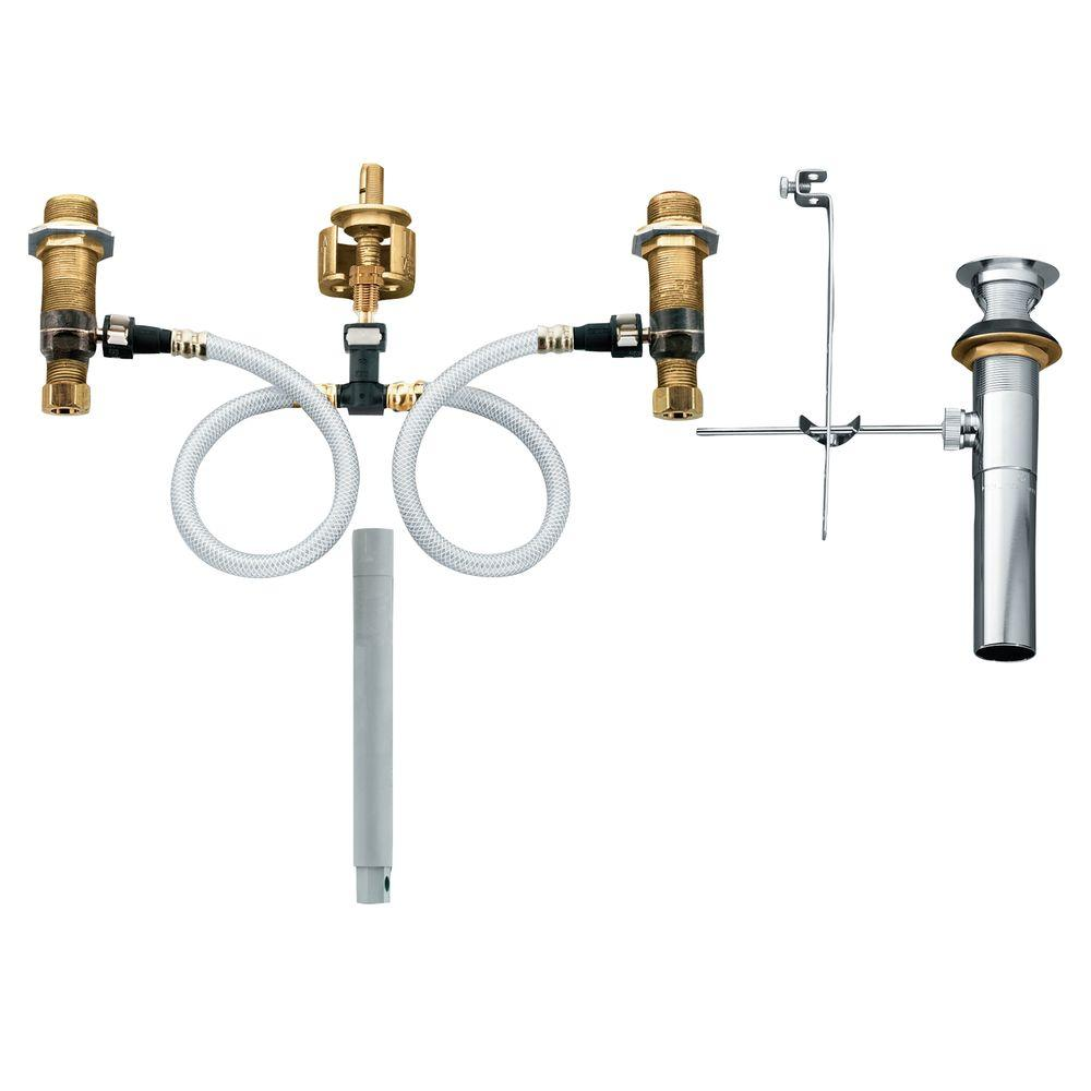 Excellent Moen Widespread Bathroom Faucet Rough In Valve With Drain Assembly 1 2 In Ips Connection Download Free Architecture Designs Embacsunscenecom