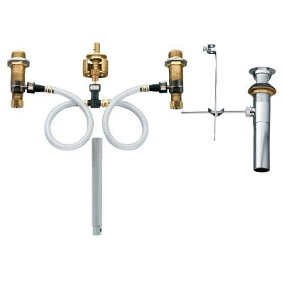 Widespread Bathroom Faucet Rough-In Valve with Drain Assembly - 1/2 in. IPS Connection