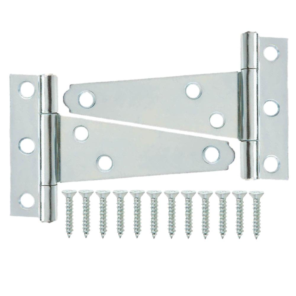 Everbilt 2 in. Zinc-Plated Tee Hinge (2-Pack)