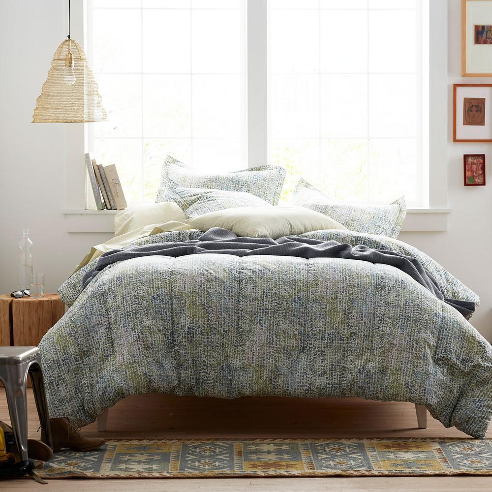 Pixel Green Comforter Set
