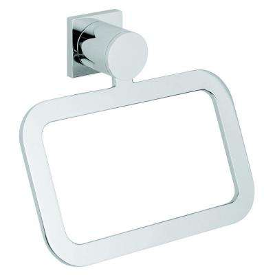 Allure Towel Ring in Starlight Chrome