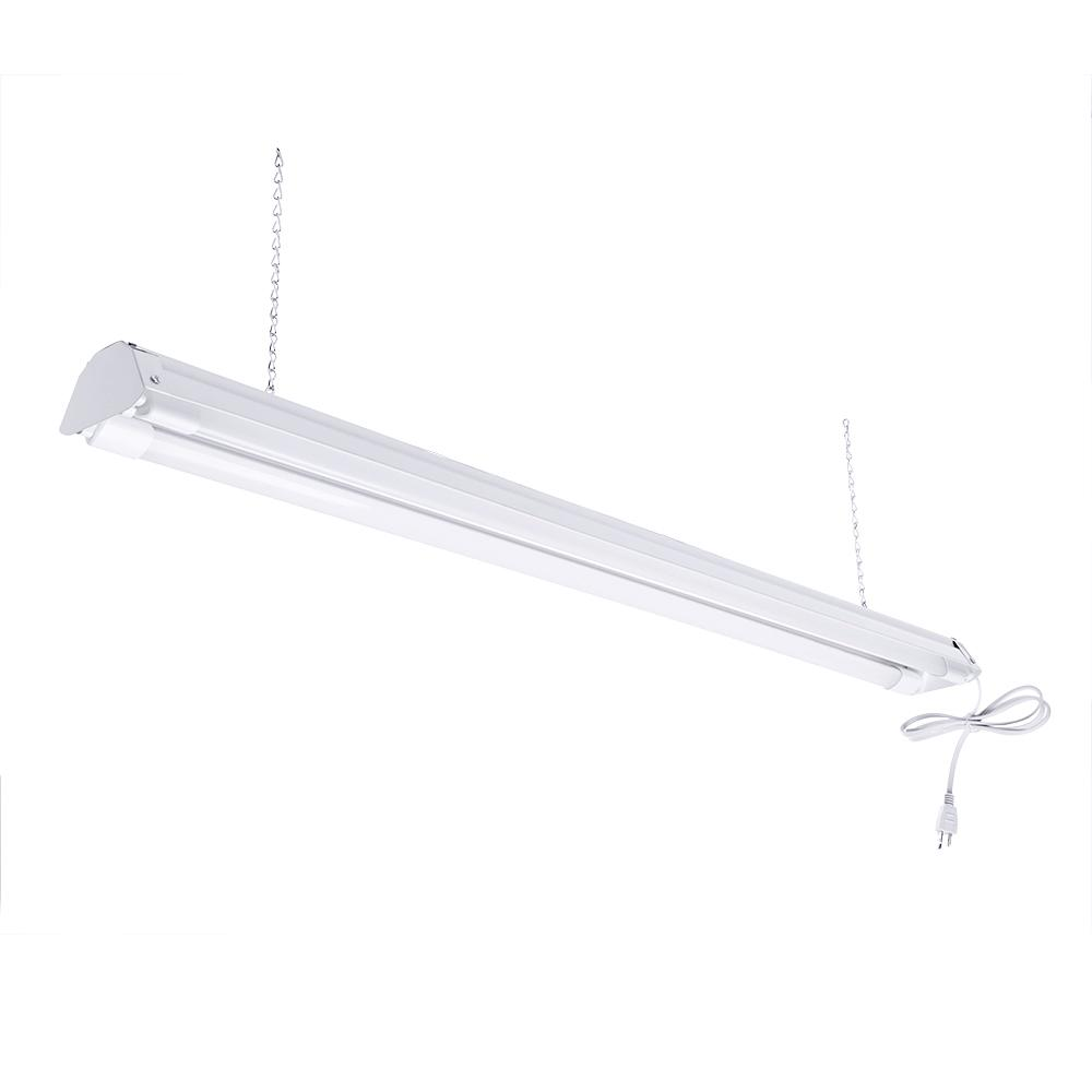 Shop lights commercial lighting the home depot white 5000k led shop light led tubes included arubaitofo Choice Image