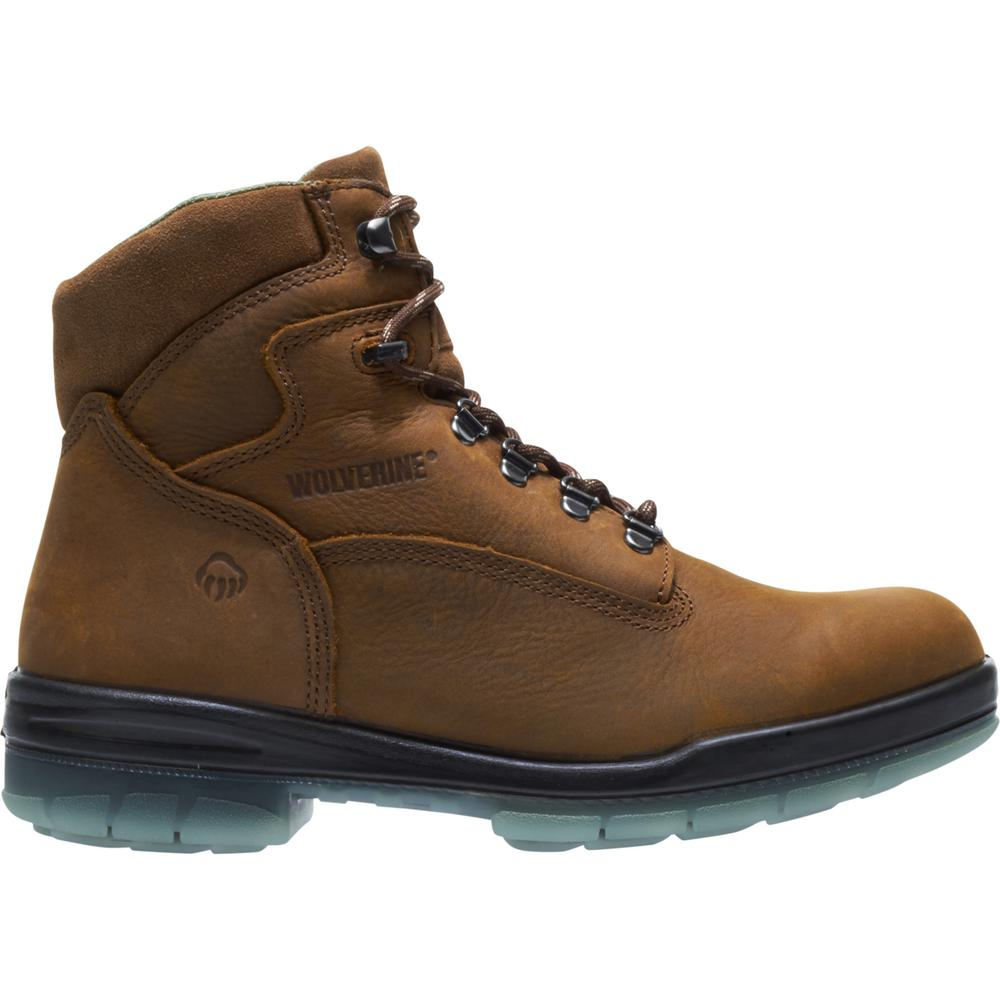 1668d04d0f6 Wolverine Men's I-90 Durashocks Size 10.5M Brown Nubuck Leather Waterproof  6 in. Boot