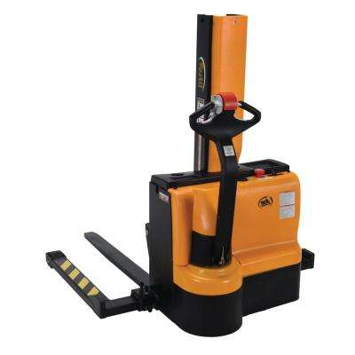 3000 lb. Capacity 43 in. Narrow Mast Stacker with Power Lift Power Drive and Adjustable Forks