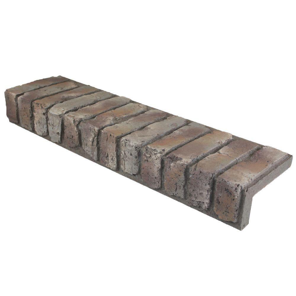 Mountain Grey 31-1/2 in. x 8-3/4 in. x 4-3/8 in. Faux Brick Window/Door Trim