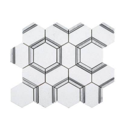 Locket 12 in. x 10.5 in. x 10 mm Natural Stone Mosaic Tile