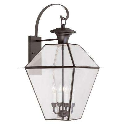 Providence Wall-Mount 4-Light Bronze Outdoor Incandescent Lantern
