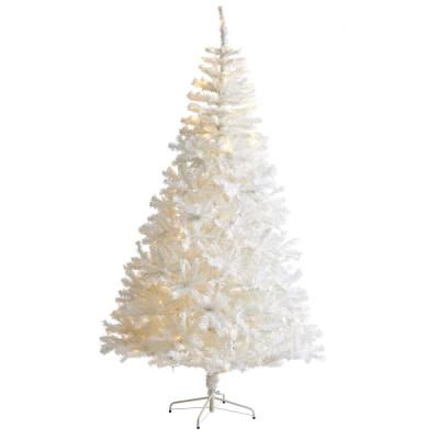 7.5 ft. Pre-Lit White Artificial Christmas Tree with 400 Clear LED Lights