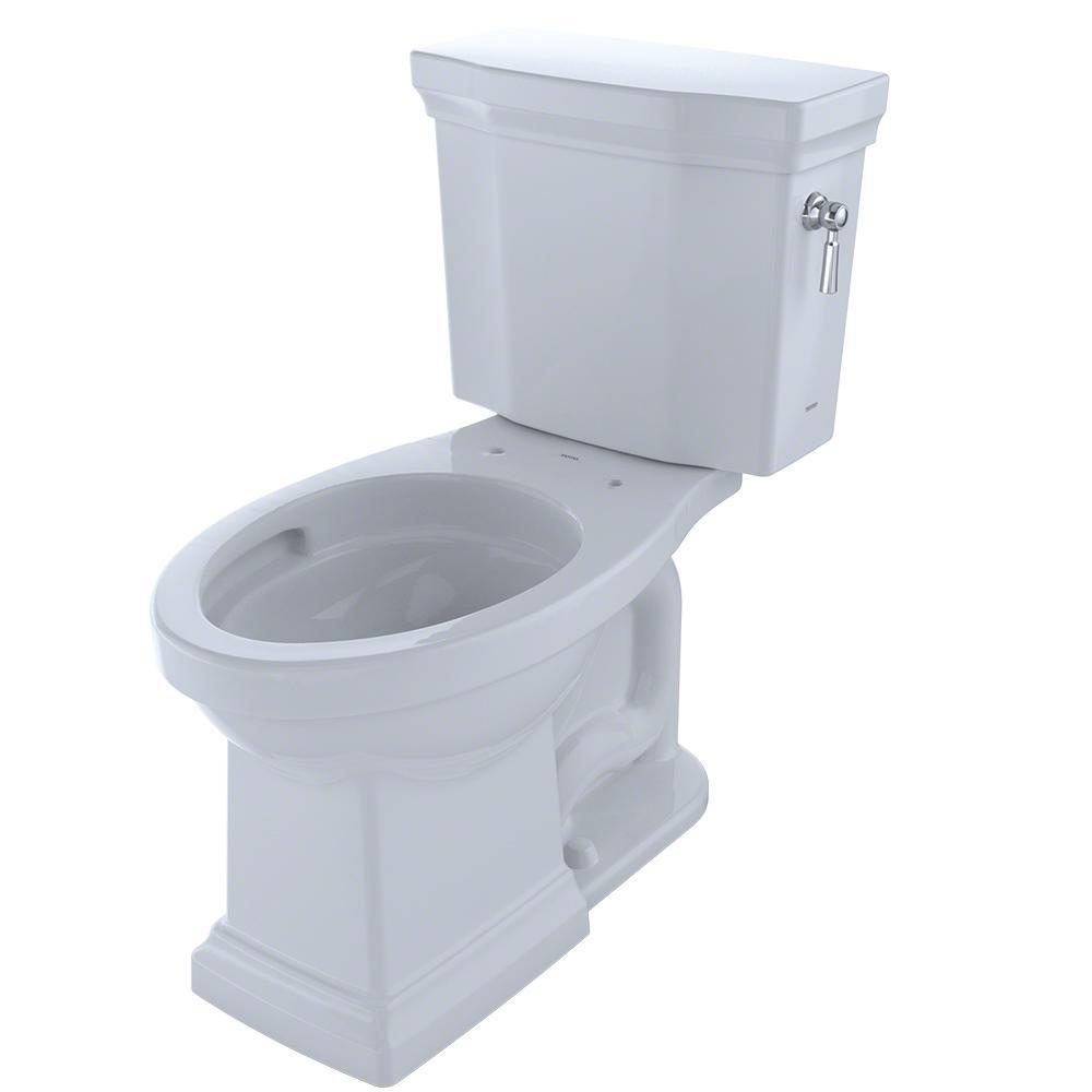 Toto Promenade II 2-piece 1.28 GPF Single Flush Elongated Toilet ...