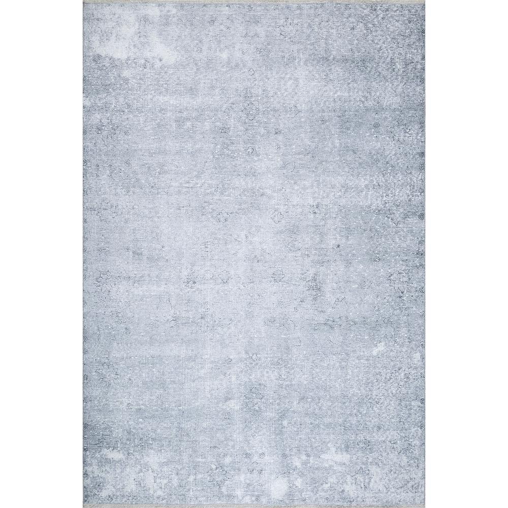 Freya Printed Nebulous Gray 8 ft. x 10 ft. Area Rug