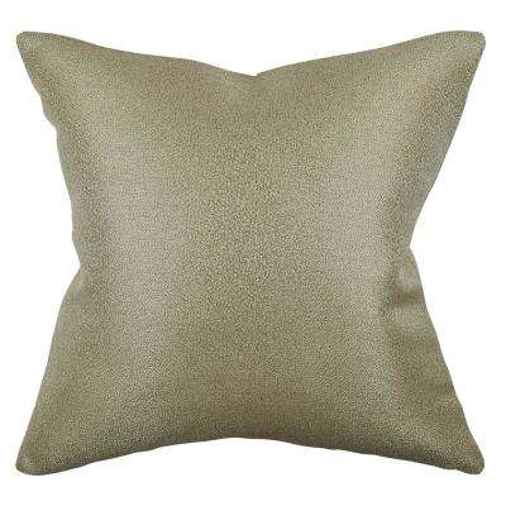 Solid Metallic Chenille Throw Pillow