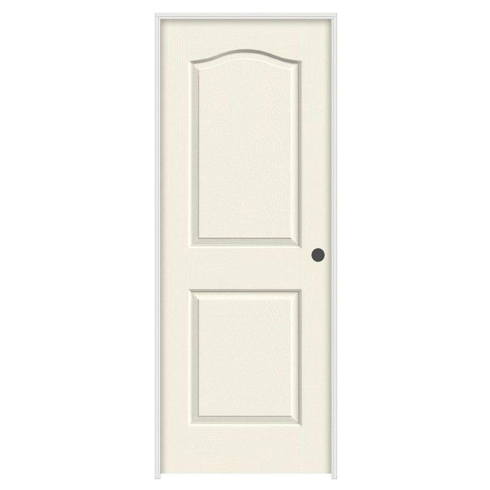 home depot jeld wen interior doors jeld wen 24 in x 80 in camden vanilla painted left 26758