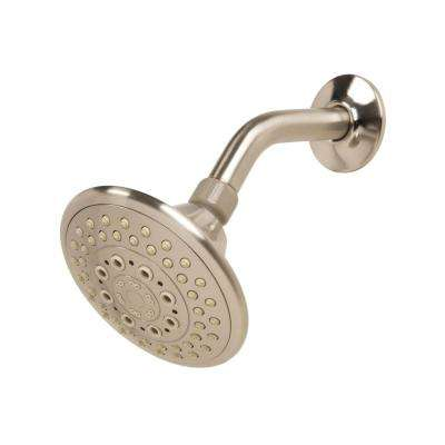 5-Spray 5 in. Fixed Showerhead in Brushed Nickel