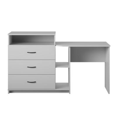 Sonnet 3-Drawer Dove Gray Media Dresser and Desk (34.69 in. H x 59.21 in. W x 17.72 in. D)
