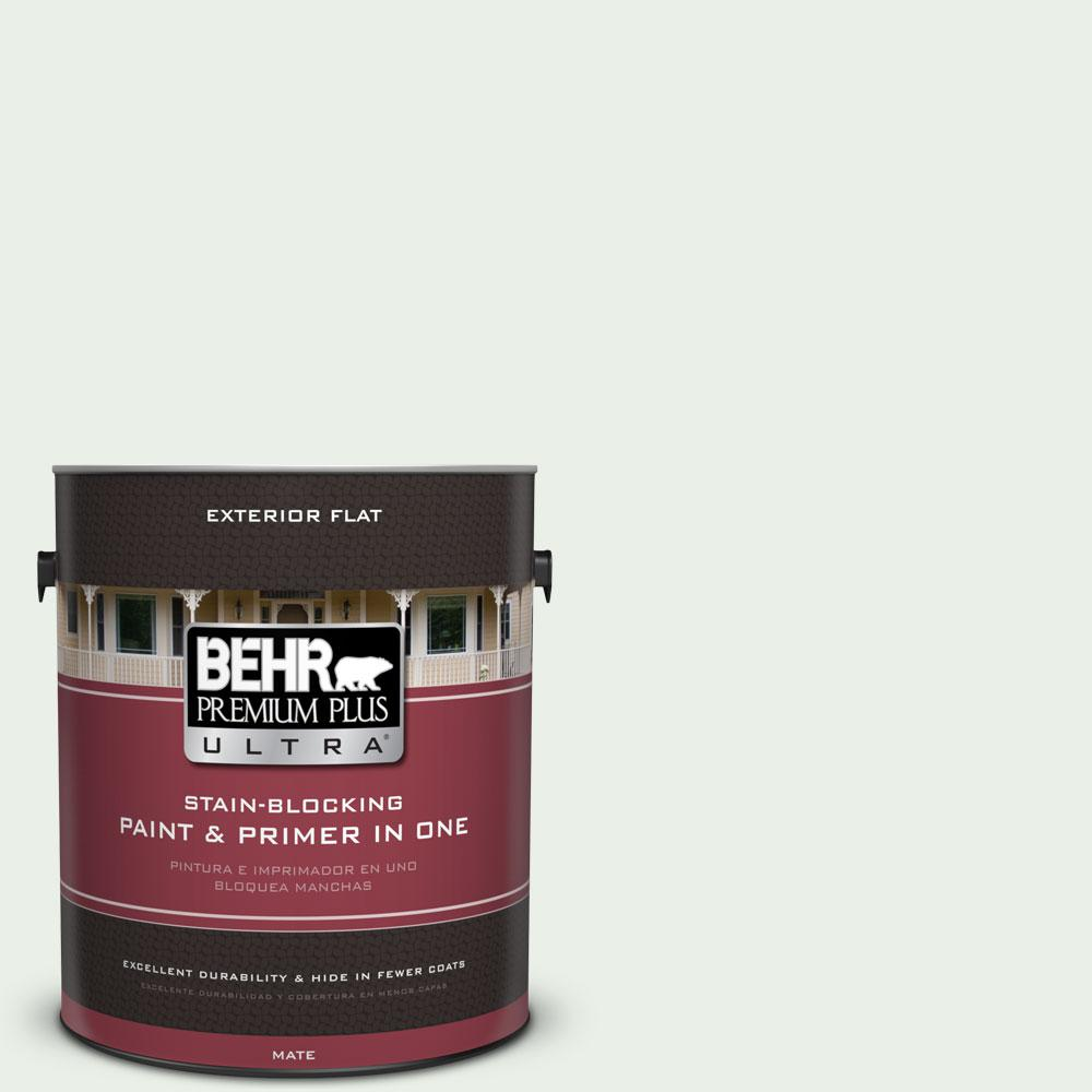 BEHR Premium Plus Ultra 1-gal. #440C-1 Cool White Flat Exterior Paint