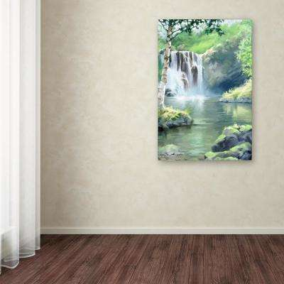 "47 in. x 30 in. ""Waterfall"" by The Macneil Studio Printed Canvas Wall Art"
