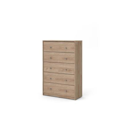 Portland 5 Drawer Jackson Hickory Chest of Drawers 42.56 in. H x 28.5 in. W x 11.73 in. D