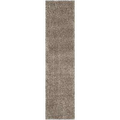 Milan Shag Gray 2 ft. x 10 ft. Runner Rug