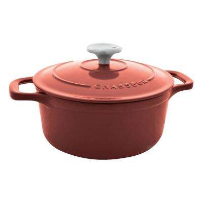 6.75 Qt. Red Enamel Cast Iron Dutch Oven