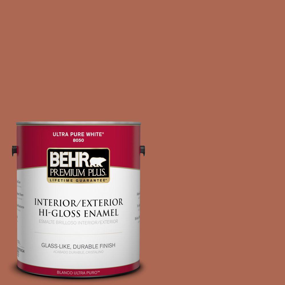 BEHR Premium Plus 1-gal. #220D-7 Mojave Sunset Hi-Gloss Enamel Interior/Exterior Paint