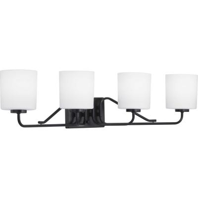 Tobin 4-Light Black Vanity Light