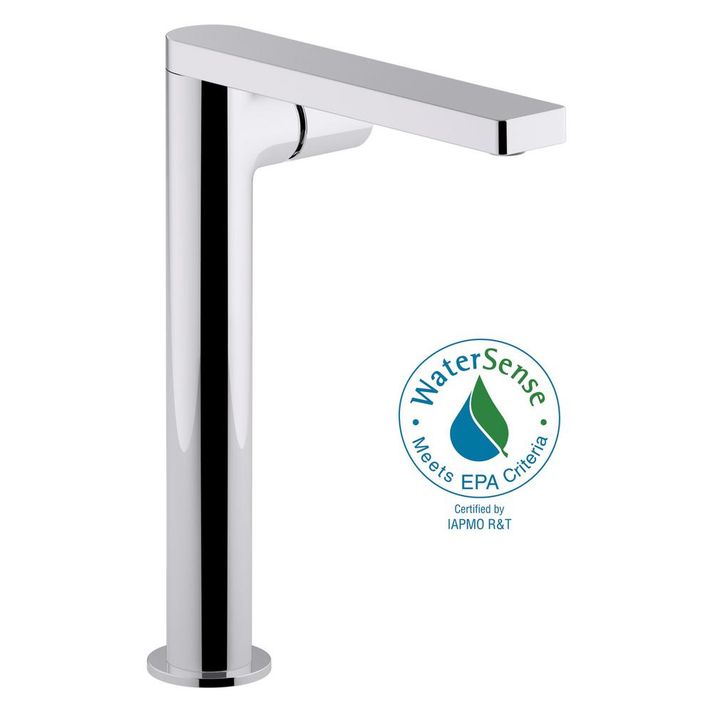 Kohler Composed Single Hole Handle Tower Vessel Bathroom Faucet With Cylindrical And