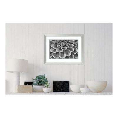 25.13 in. W x 19.13 in. H Silver Dahlia by Dennis Frates Printed Framed Wall Art