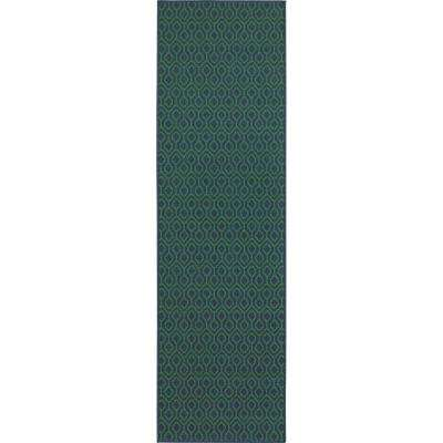 Waves Navy Green 2 Ft. 3 In. X 7 Ft. 6 In.