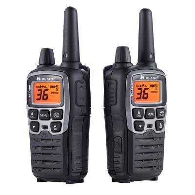 X-Talker 38-Mile 2-Way Radios with Charger and Accessories in Black