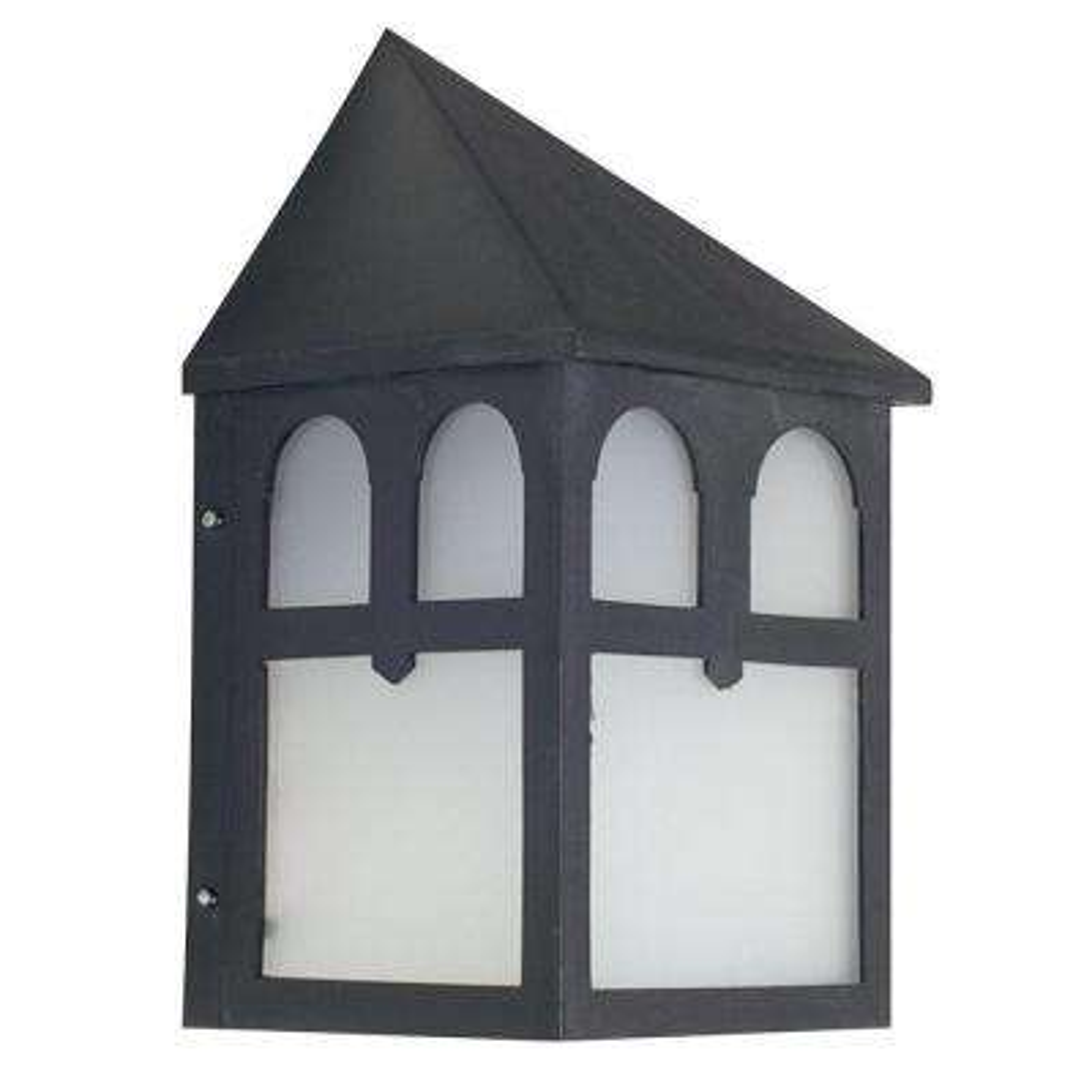 Skelding 1-Light Black Outdoor Wall Light